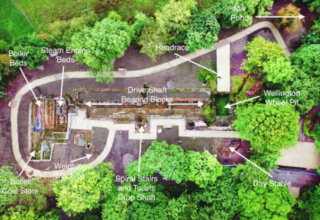 HIA1Annotated aerial photo Mellor Mill